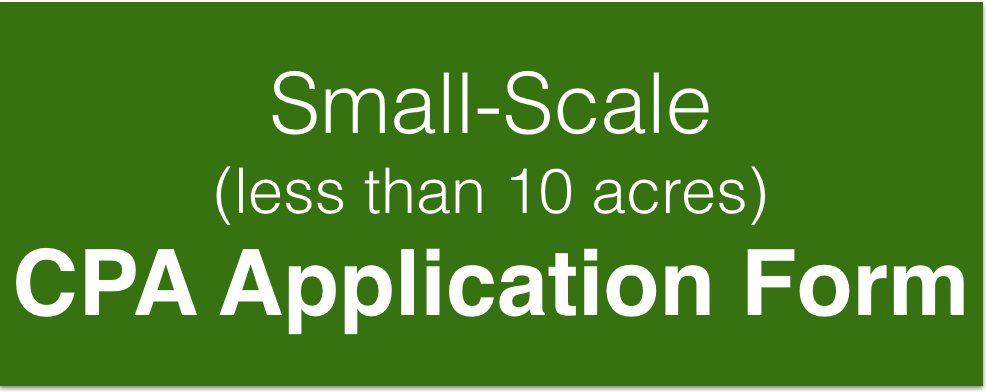 Small-Scale (less than 10 acres) CPA Application Form
