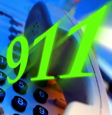 Phone and 911 clip art