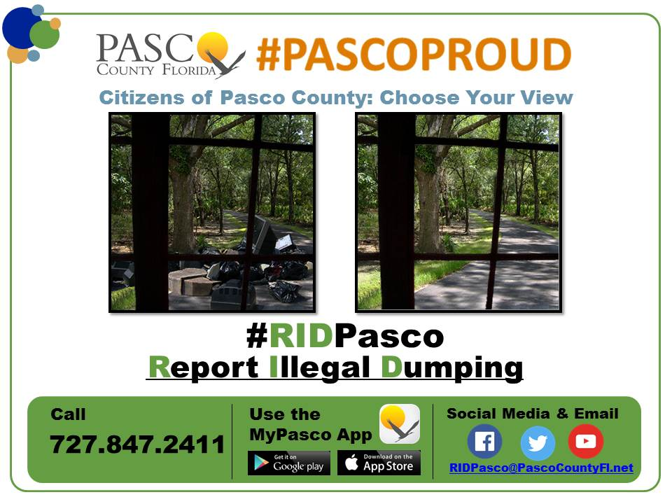 Pasco Proud Report Illegal Dumping
