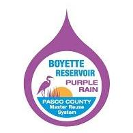 Boyette Reservoir Logo Purple Raindrop