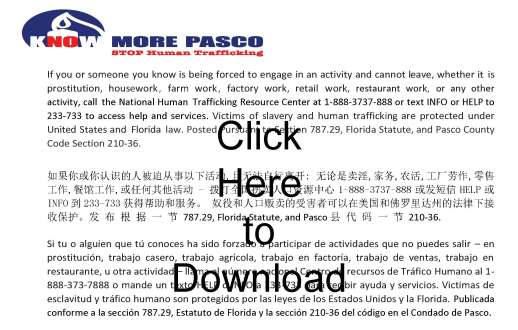 Stop human trafficking graphic