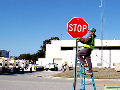 Installing Stop Sign