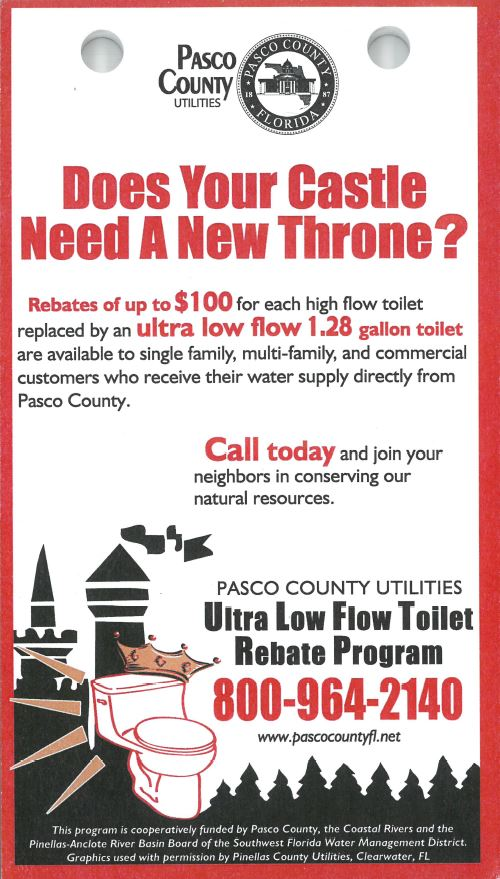 Toilet Rebate Program Flyer