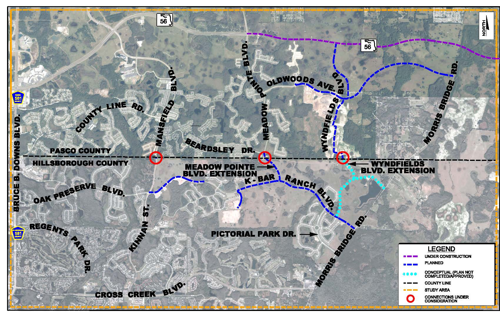 Final Wesley Chapel Study Area Map