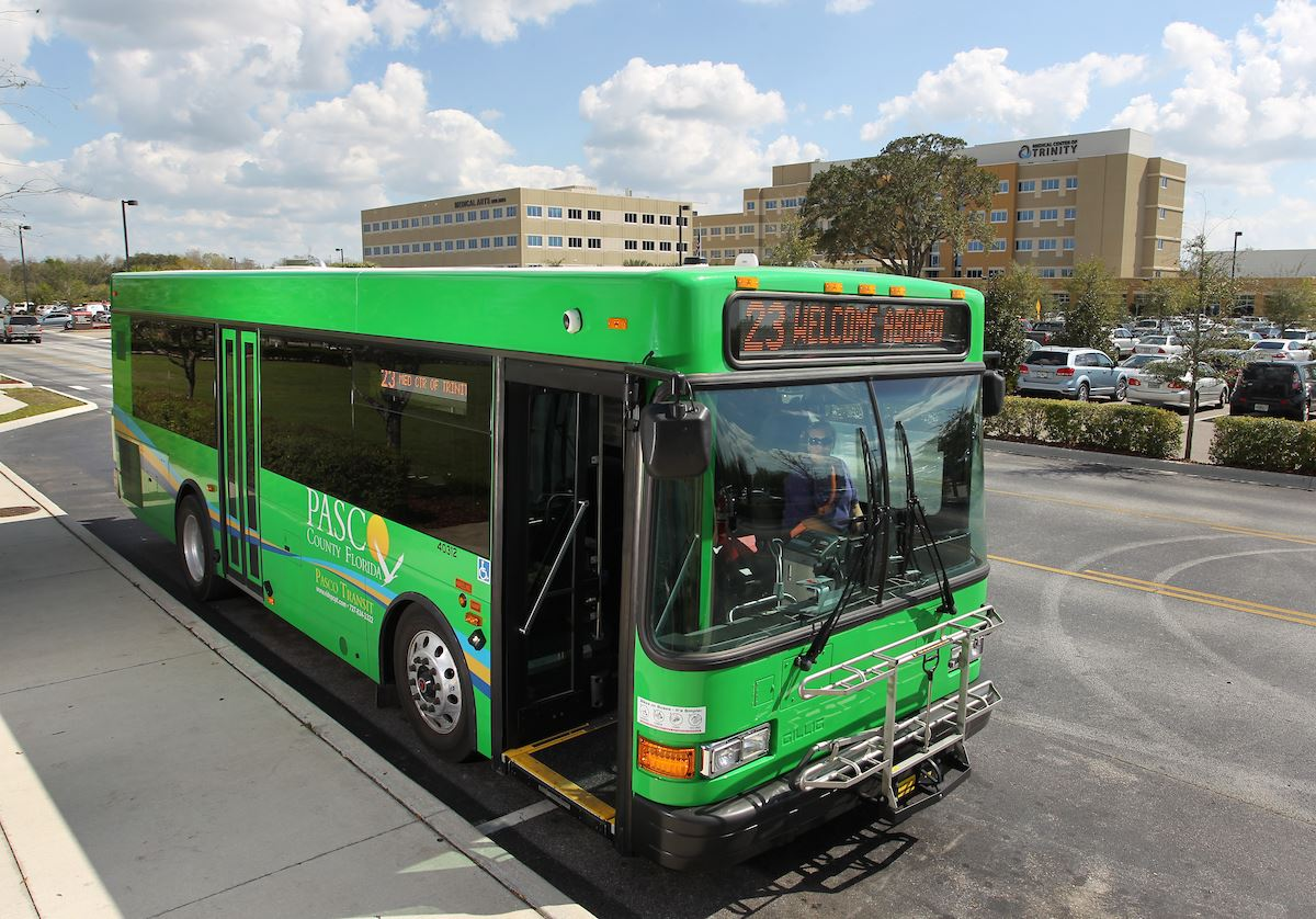Green Bus at Trintiy Medical Center