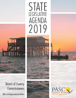 State Legislative Agenda 2019 cover photo of scenes from Pasco County