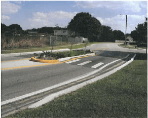 Traffic Calming Speed Table with Island