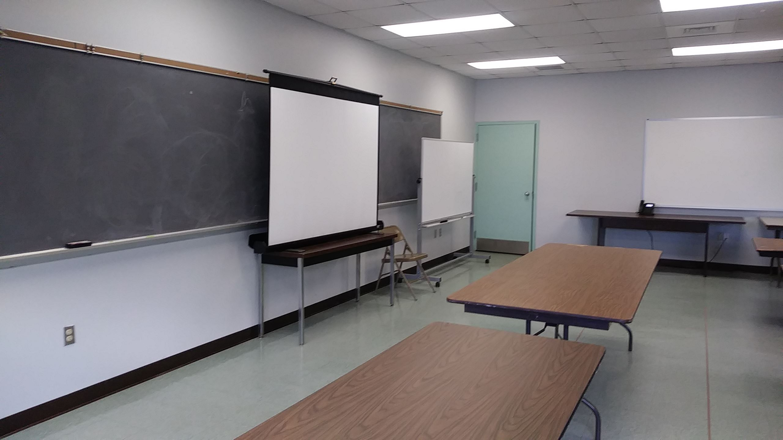 One Stop Shop Conference Room Projector Screen Chalk Board