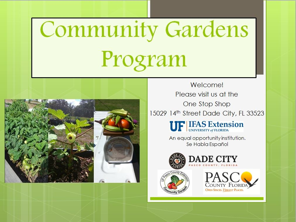 Community Gardens Program Coversheet