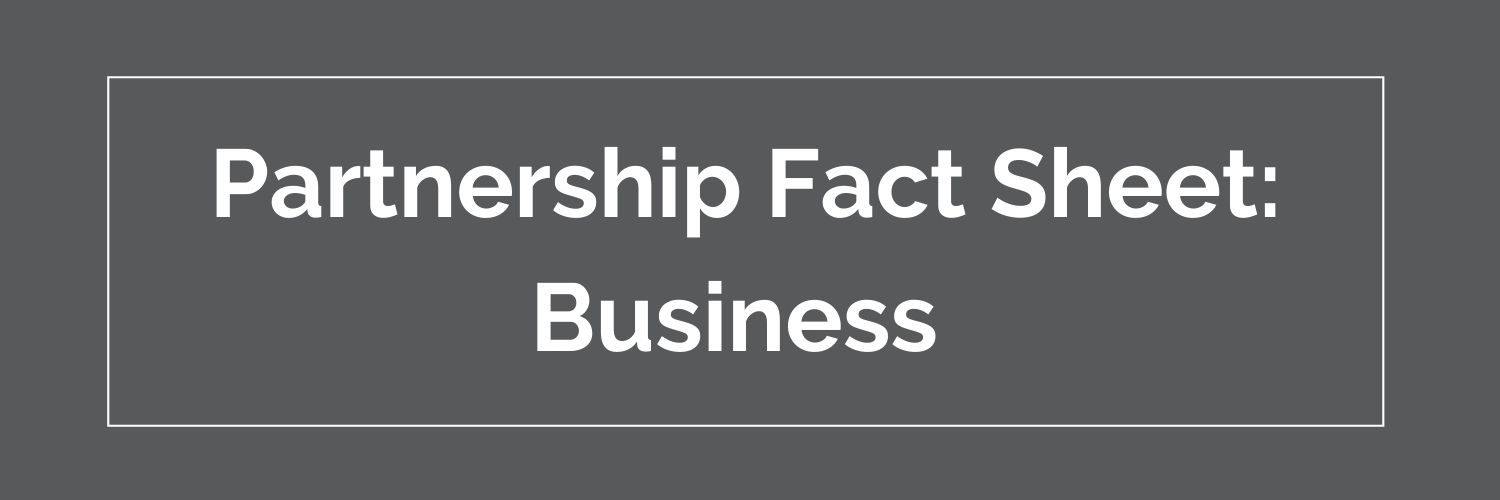 Business partnership fact sheet button