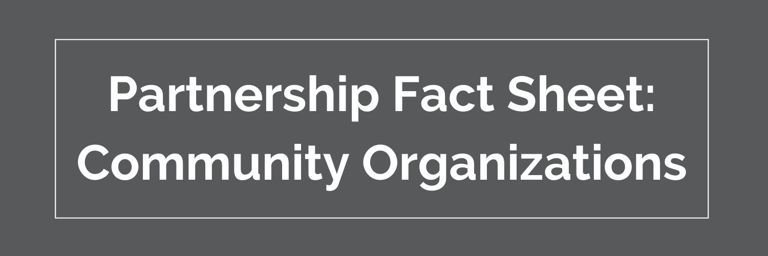 community organizations partnership fact sheet button