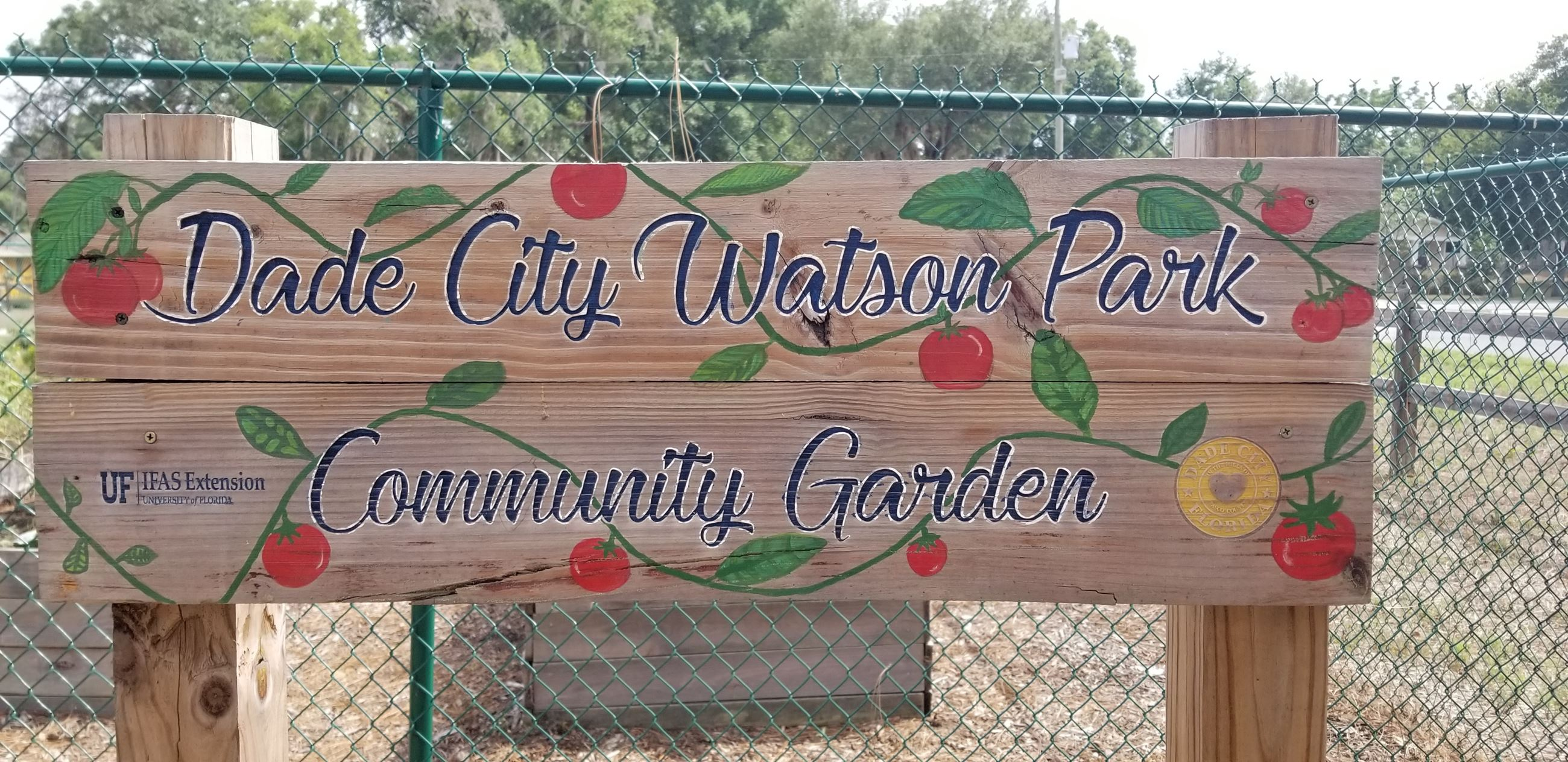 Dade City Watson Park Wooden Sign