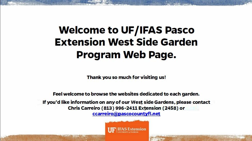 West Community Gardens Information Website - Chris Carreiro