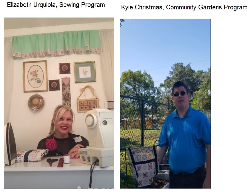 Elizabeth and Kyle Sewing Garden Flag Tutorial Promo Photo Opens in new window
