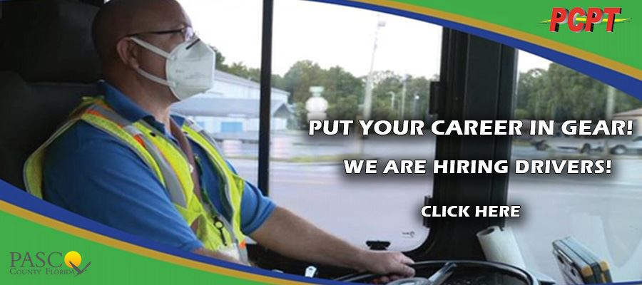 PCPT Now Hiring Bus Driver Driving Bus