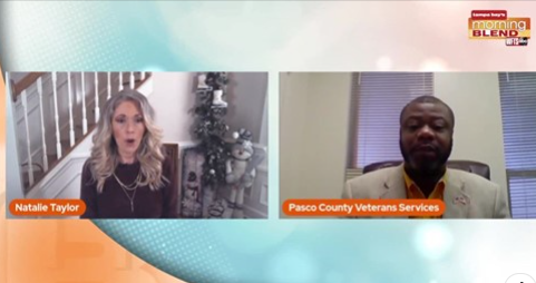 Host of Tampa Bay's Morning Blend with Veterans Services Director Opens in new window